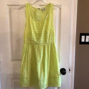 Yellow Eyelet Summer dress